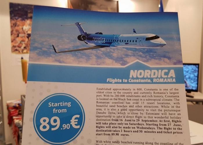O noua cursa pe aeroportul Mihail Kogalniceanu: Constanta- Tallinn